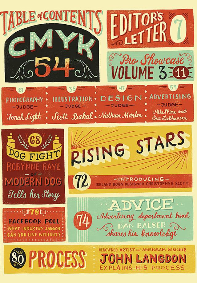 Screenshots for CMYK Magazine 54